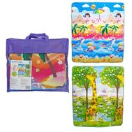 1toy коврик игровой для малышей EPE средний 1.5M*1.8M*0.5CM, в сумке, двустор, рис: пляж и жираф-рос, фото 1