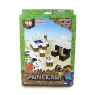 """Minecraft констр.из бумаги """"Снежный биом"""",48 деталей,наклейки,21х31см,короткие,  Т57239, фото 1"""