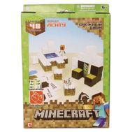 """Minecraft констр.из бумаги """"Снежный биом"""",48 деталей,наклейки,21х31см,короткие,  16712, фото 1"""