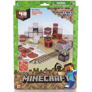 """Minecraft констр.из бумаги """"Вагонетка и взрывчатка ТНТ"""",48 деталей,наклейки,21х31см,короткие,  16713, фото 1"""