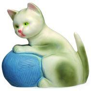 Ночник Котенок с голубым клубком (22см), фото 1