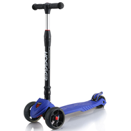 Самокат HOGGER BIGFOOT, детский, светящиеся колеса, синий, 2019, фото 1