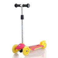 Самокат HOGGER ZEBRA, детский, светящиеся колеса, желто-розовый, 2019, фото 1