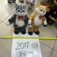 Кот музыкальный мяг игрушка 30 см,  2017-124, фото 1