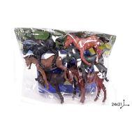 Лошади ПВХ 6 шт в пакете,  Y164-1, фото 1